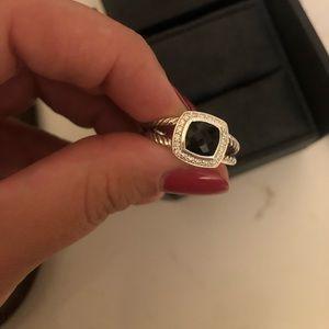 David Yurman Jewelry - David yurman petite Albion black onyx ring size 8
